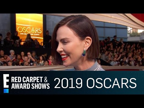 Charlize Theron Brings Mother as Date to 2019 Oscars  E Red Carpet & Award Shows