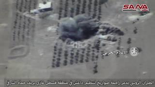 الطيران الروسي يدمر راجمة صواريخ لداعش في ريف حماة