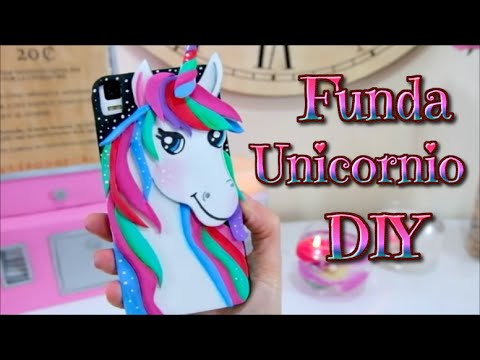 Diy Kawaii Funda Unicornio Para Telefono Movil O Celular Youtube