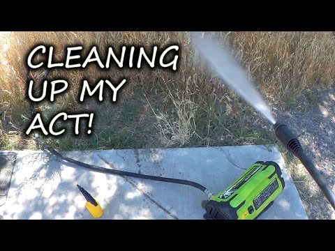 How To Power Clean Your Rig Off The Grid Using A Portable Pressure Washer!