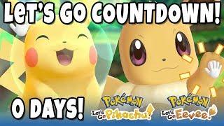 POKEMON LET'S GO COUNTDOWN LIVE STREAM! (North America Release)