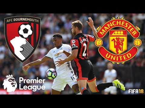 Bournemouth vs manchester united | premier league 2018 | fifa 18 gameplay, highlights & goals