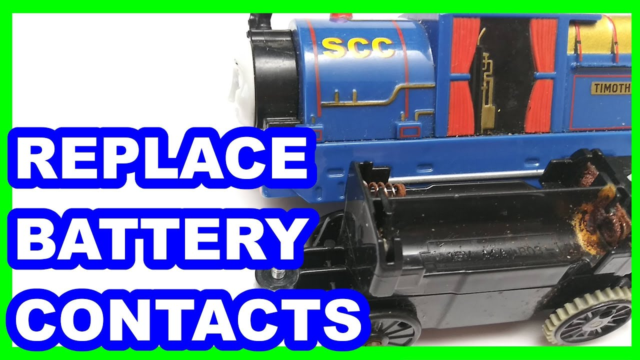 Timothy replacing battery contacts Trackmaster Thomas & friends Thomas y sus amigos Томас и друзья
