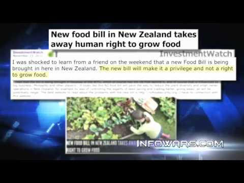 NEW ZEALAND BILL, BANS GROWING OWN FOOD (+DRINKS)