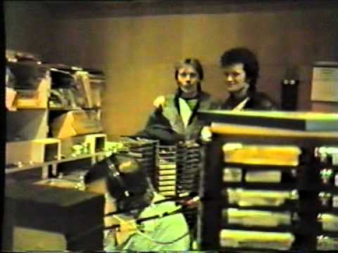 Peter Antony with Bob Stewart on air at Radio Luxembourg April 1985