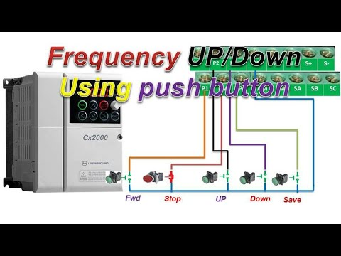 L T Drive Parameter Setting Frequency Up Down Using Push Button Hindi Youtube