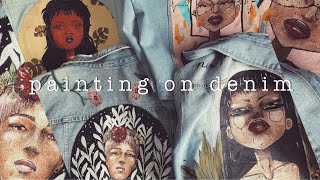 how to paint on denim with acrylic