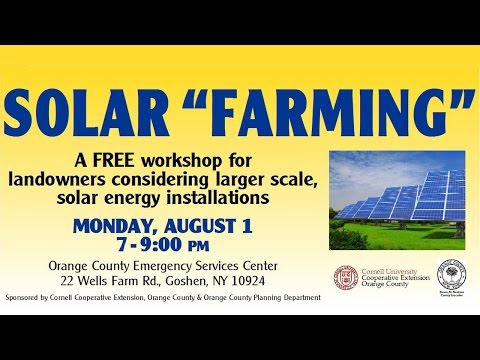 "Solar ""Farming"" Workshop"