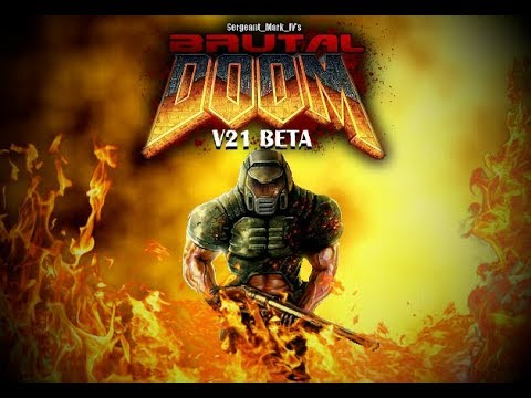 Brutal Doom v21 Beta (PC) - Gameplay + download link