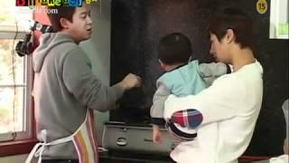 (Eng sub) B2ST Kikwang taking care of a baby  (Hot Brothers cut)