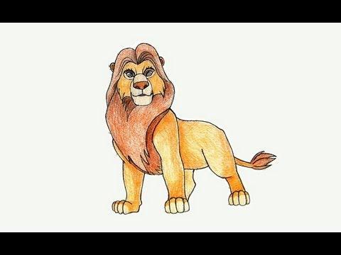 Como Desenhar O Mufasa De O Rei Leao Youtube