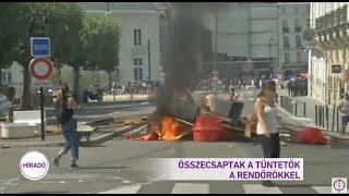 Összecsaptak a tüntetők a rendőrökkel