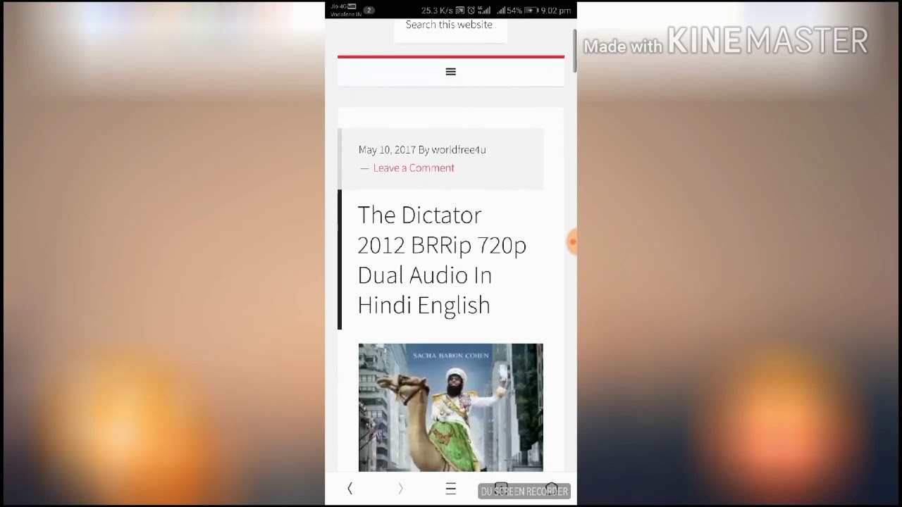 Download How to download The Dictator full HD movie in dual audios || Strange.DéVìL ||