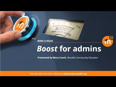Boost for Administrators in Moodle 3.2
