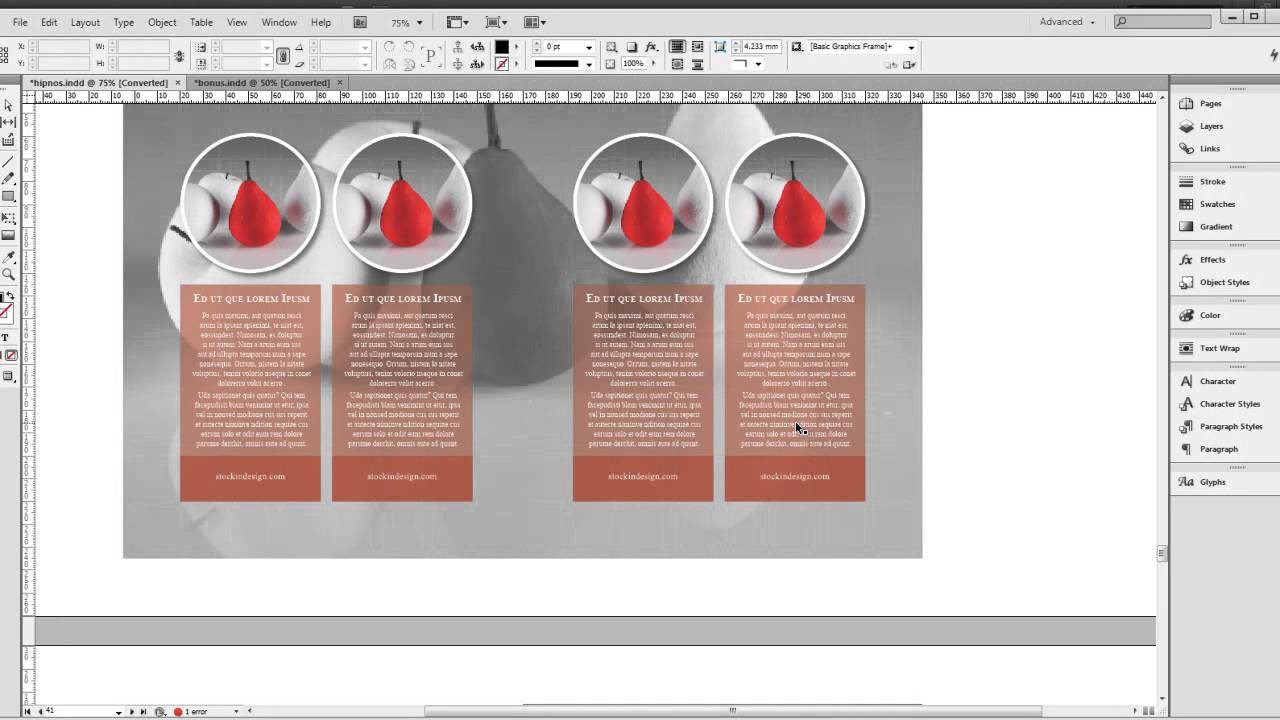 Color book in design - 2 Indesign Book Template Hipnos