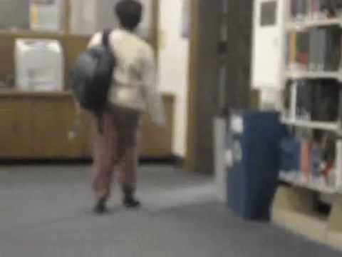 This woman was told to jingle her keys through the library
