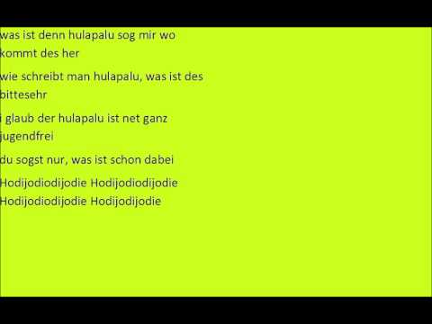 Andreas Gabalier - Hulapalu Mit Text (Lyrics - Karaoke) 2015 Hit