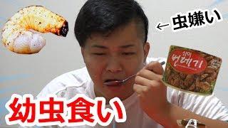 【閲覧注意】虫嫌いにクソまずい幼虫食べさせたら吐きかけた。 thumbnail