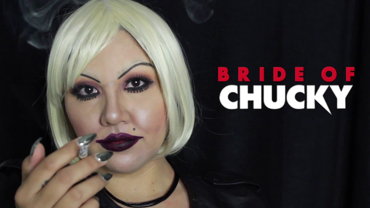 Bride of chucky l tiffany l makeup tutorial youtube bride of chucky l tiffany l makeup tutorial baditri Image collections