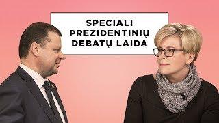 Speciali prezidentinių debatų laida. Vienas prieš vieną: Ingrida Šimonytė ir Saulius Skvernelis