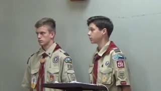 Troop Meeting Ceremony: Opening