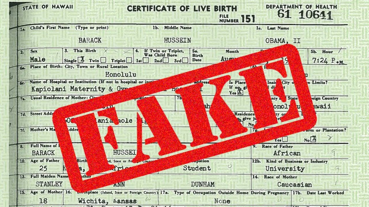 Obama Birth Certificate Fraud Sheriff Joe Arpaio Youtube