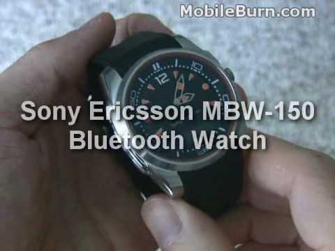 Sony Ericsson MBW-150 Bluetooth Watch demo