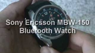 Sony Ericsson MBW-150 Bluetooth Watch demo