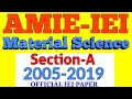 🛑🎁AMIE Previous Years Question Pape(Section-A) MATERIAL SCIENCE #AMIEINDIA  #iei #amiestudy #AMIE