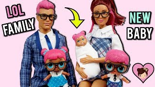 LOL Families! Teachers Pet Family has a New Baby - Custom Barbie DIY