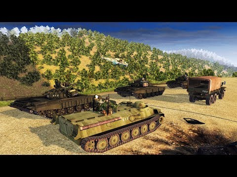 Mountain BASE DEFENSE Of Army Convoy | Cold War Mod | Men Of War: Assault Squad 2 Gameplay