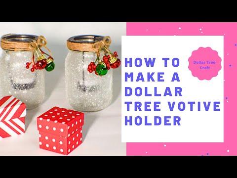 How to Make a Dollar Tree Christmas Votive