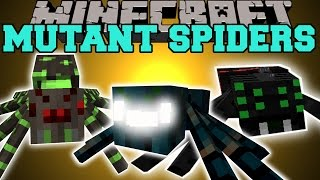 Minecraft: MUTANT SPIDERS (GET READY TO DIE!) Mod Showcase