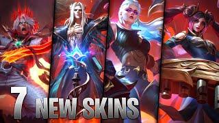 7 NEW PENTAKILL SKINS - Karthus Viego Olaf Sona Mordekaiser Yorick Kayle - League of Legends