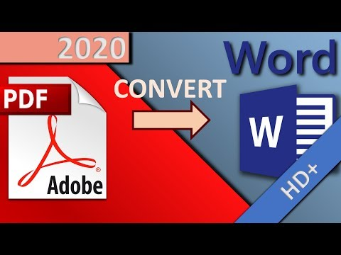 How To Convert PDF To WORD And Edit It (free, Online) In 1 MINUTE (HD 2020)
