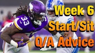 Fantasy Football 2019 Week 6 Start 'em Sit 'em (TIMESTAMPS)