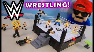 WWE Micro Maniax Wrestling Figures & Ring Playset UNBOXING!