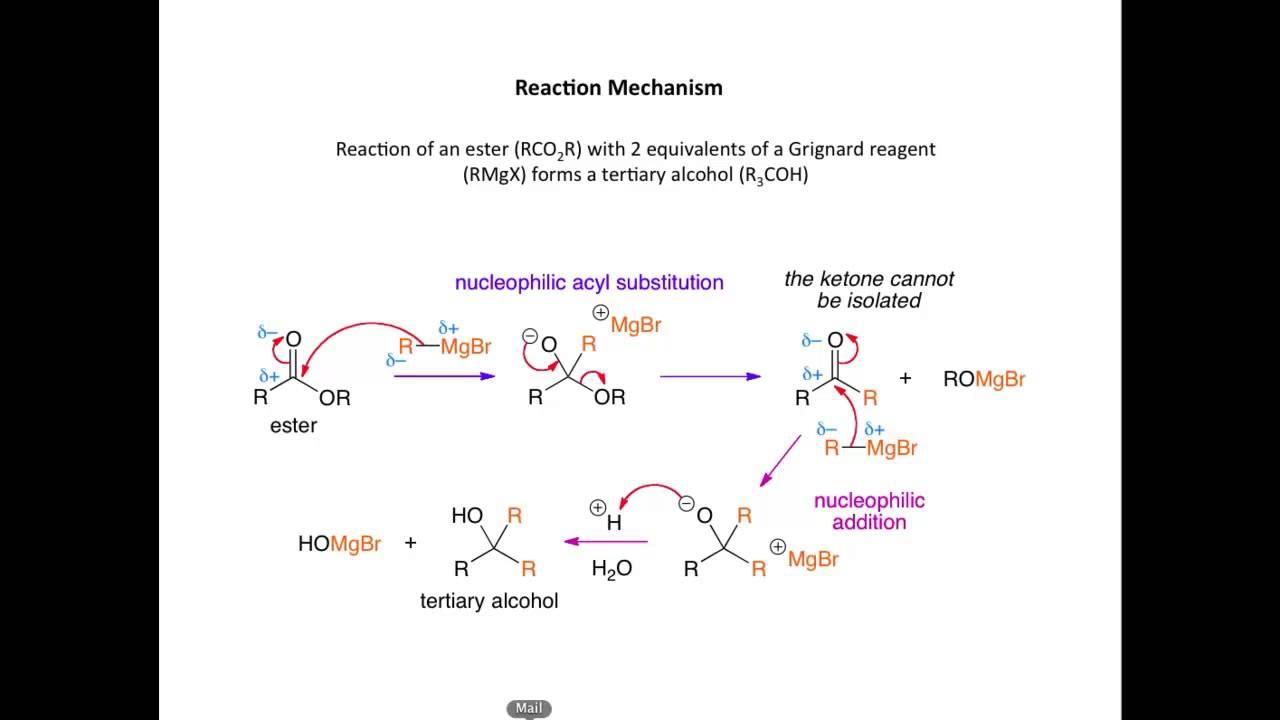 Esters and Grignard reagent