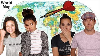 We threw a DART at a MAP & WENT THERE! Parents go different place THAN KIDS!