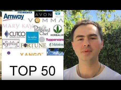 Top 50 des sociétés MLM 2016 et 2018