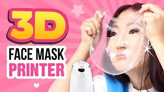 VIRAL Face Mask 3D Printer TESTED!!! Make DIY Pumpkin Spice Latte Face Masks!