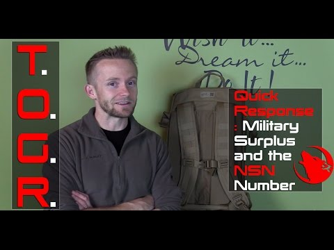 Quick Response : Military Surplus and the NSN Number
