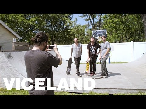 Bam Margera Skates Kerry Getz's Backyard Ramp