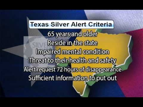 Criteria needed for Silver Alert to be issued