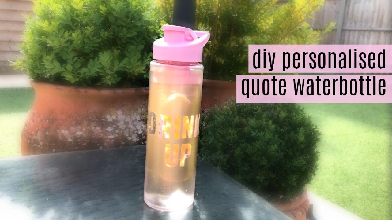 DIY Personalized Waterbottle