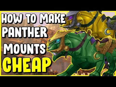 How To Make Panther Mounts For Cheap In WoW BFA 8.3 Gold Making, Gold Farming