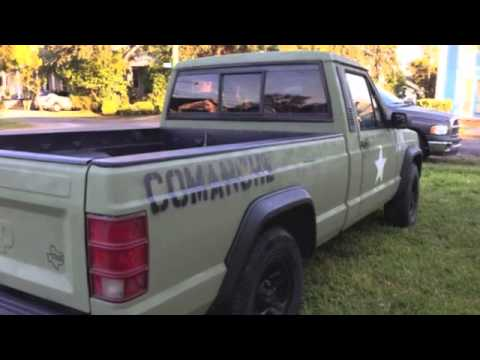 Truck painted like army jeep - YouTube