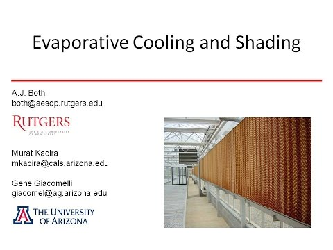 Evaporative Cooling and Shading