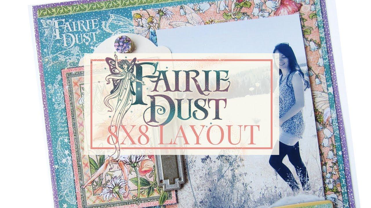 8x8 Scrapbook Layout Tutorial Club G45 Vol 1 Featuring Fairie Dust