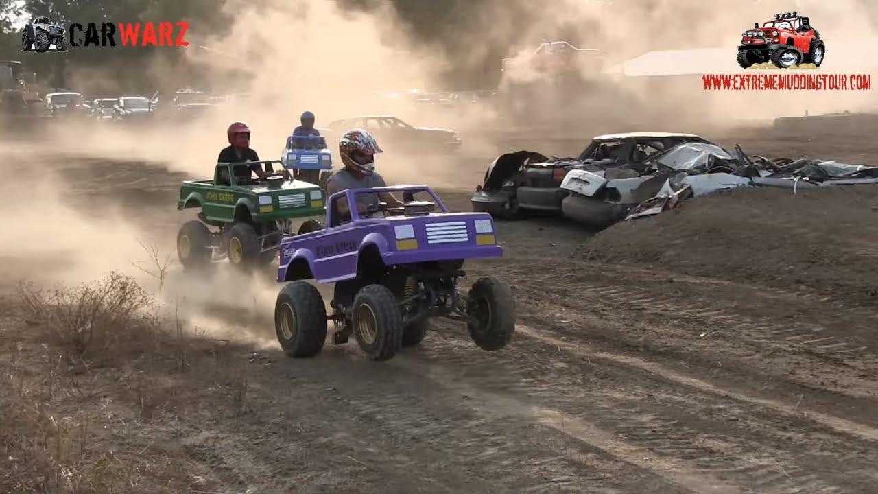 Mini Monster Trucks Racing At Monster Truck Shootout At Imlay Fair